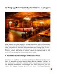 10 Banging Christmas Party Destinations in Gurgaon.pdf