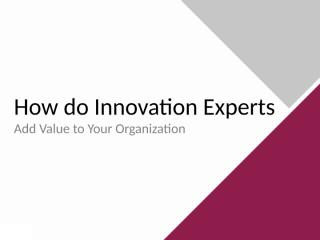 how-do-innovation-experts-add-value-to-your-organization.pptx