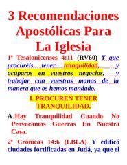 3 recomendaciones apostolicas para la iglesia.doc