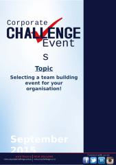Selecting a team building event for your organisation! Corporate Challenge Events.pptx
