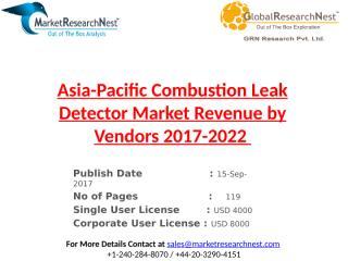 Asia-Pacific Combustion Leak Detector Market Revenue by Vendors 2017-2022.pptx