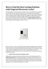 How to Find the Best Locking Solution with VingCard Electronic Locks.pdf