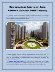 Buy Luxurious Apartment from Antriksh Vaikunth Delhi Gateway (1).pdf