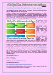 Help in Dissertation Assist in Solving Dissertation Tutoring Questions.pdf