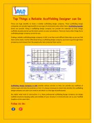 Top Things a Reliable Scaffolding Designer can Do.pdf